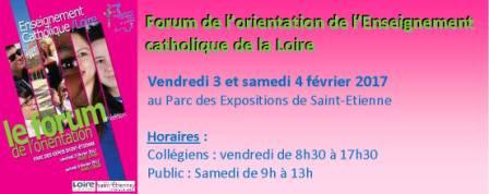 Forum de l`enseignement catholique en février 2017