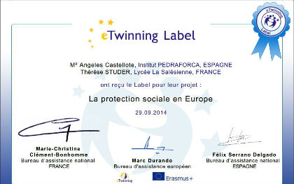 Label Etwinning