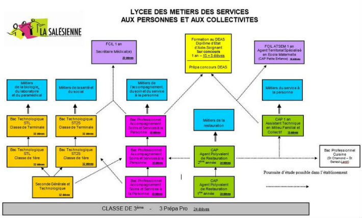 Formations proposées au lycée La Salésienne - petit format